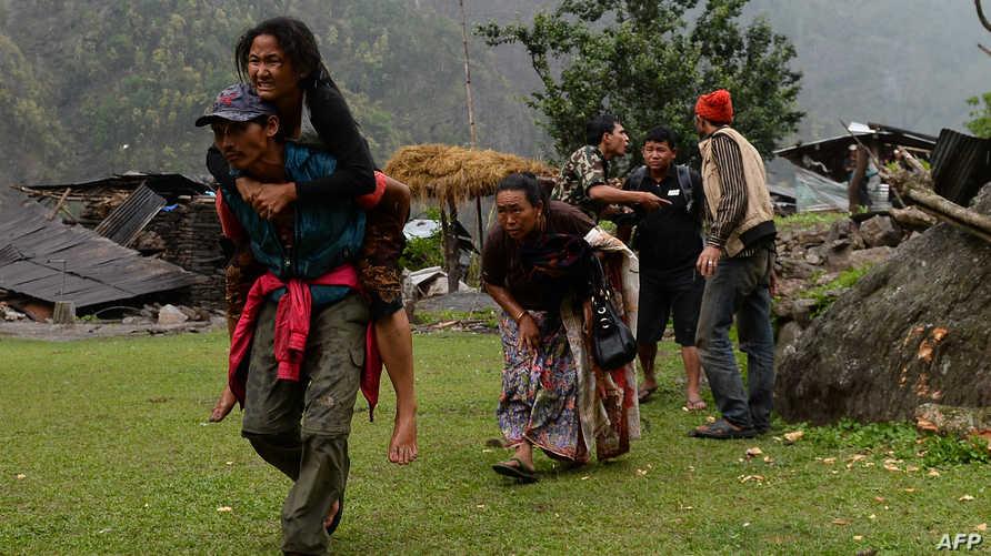 جرحى زلزال نيبال
