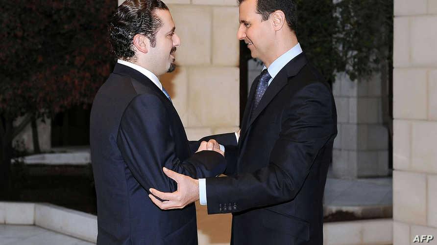 بشار الأسد وسعد الحريري في 2009