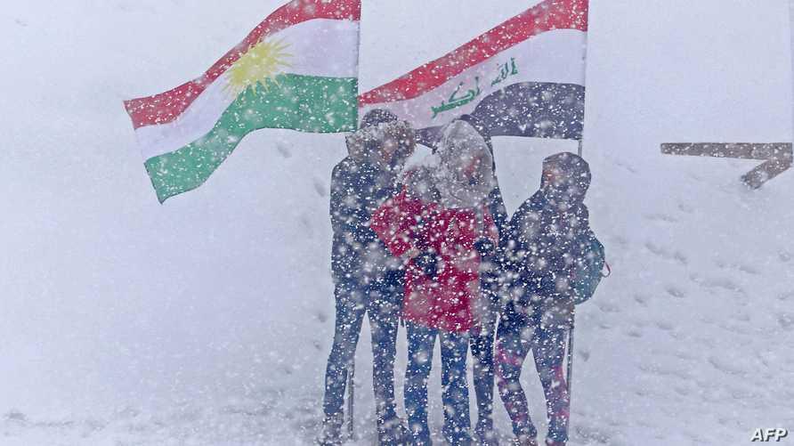 متزلجون في كردستان العراق قرب الحدود مع إيران