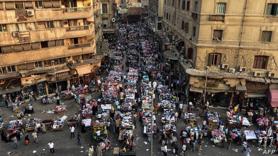 سوق في محطة العتبة في القاهرة