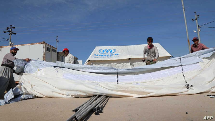 مخيم بردرش للاجئين السوريين في العراق