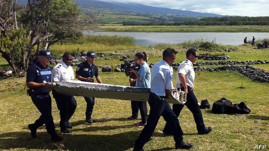 حطام الطائرة الذي عثر عليه قرب مدغشقر