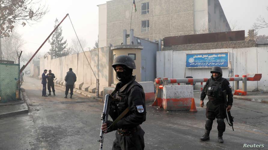الشرطة الأفغانية في موقع الهجوم