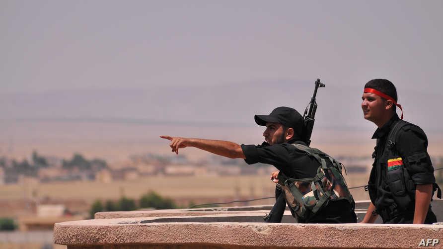 مقاتلون أكراد في الحسكة