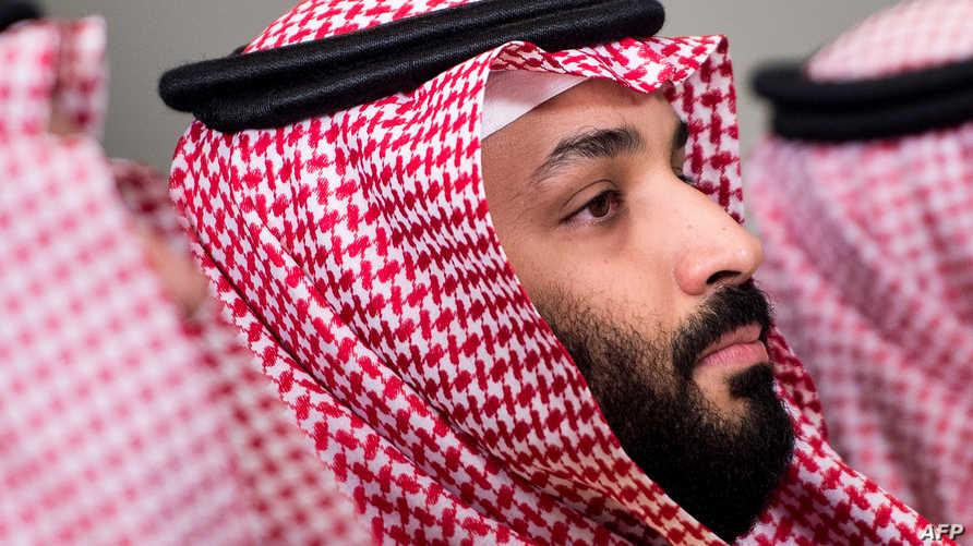 ولي العهد السعودي الأمير محمد بن سلمان في اجتماع مع وزير الدفاع الأميركي في البنتاغون بتاريخ 22 مارس 2018