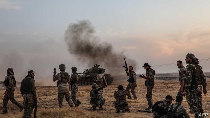مقاتلون تدعمهم تركيا في شمال سوريا
