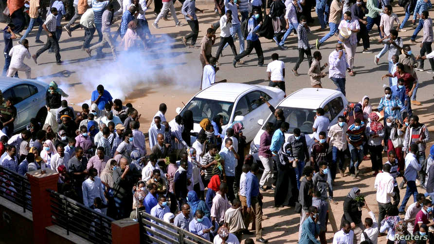 تظاهرة سابقة فرقتها الشرطة السودانية في الخرطوم_أرشيف