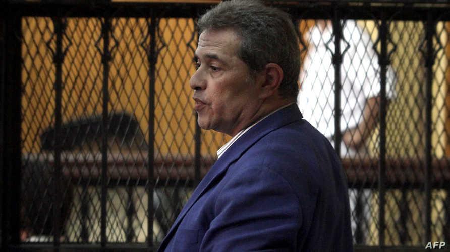 توفيق عكاشة خلال مثوله أمام محكمة- أرشيف
