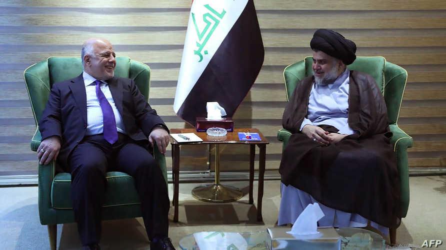 لقاء العبادي والصدر في بغداد