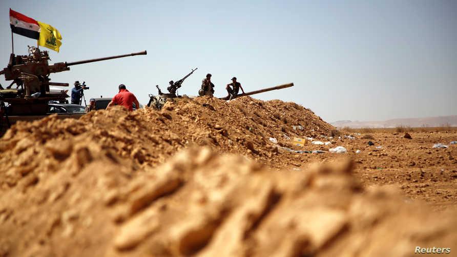 حزب الله يدعم نظام الأسد في سوريا.