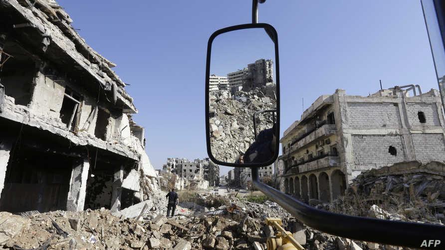 مخلفات الحرب في حلب