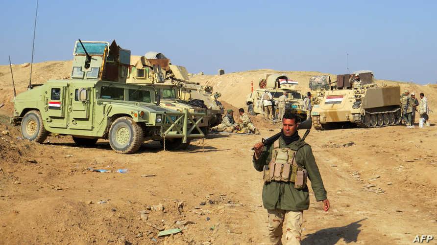 قوات عراقية قرب الرمادي -أرشيف