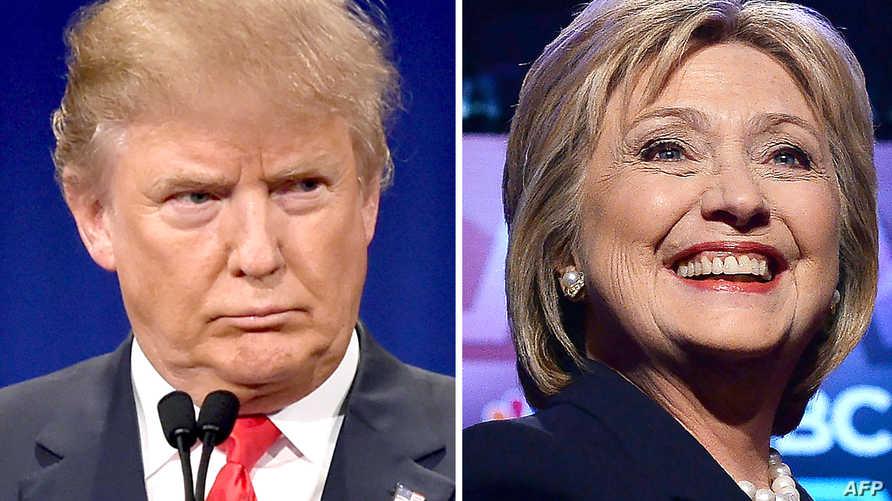 المرشحان الديموقراطية هيلاري كلينتون والجمهوري دونالد ترامب