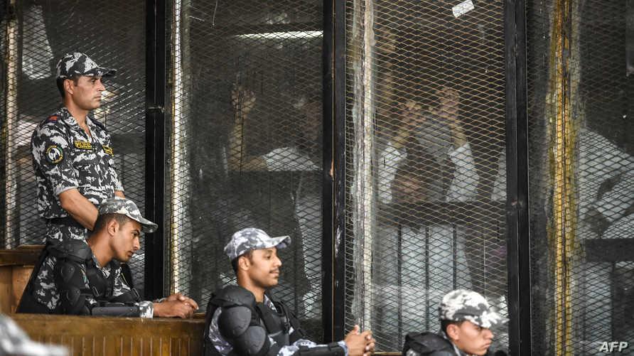 خلال جلسة محاكمة متهمين من جماعة الإخوان المسلمين في يوليو 2018