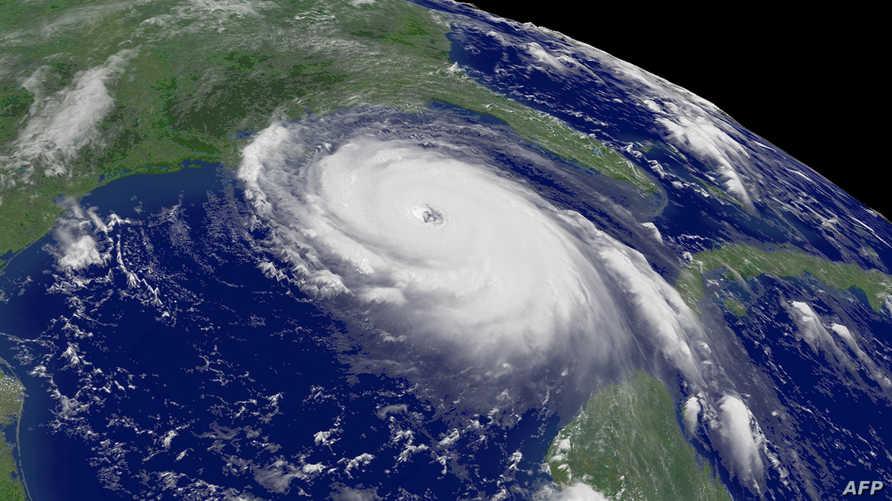 صورة جوية لإعصار كاترينا الذي ضرب في عام 2005