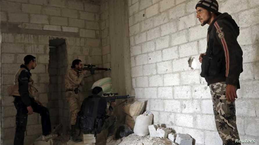 مقاتلون من المعارضة السورية في ريف دمشق