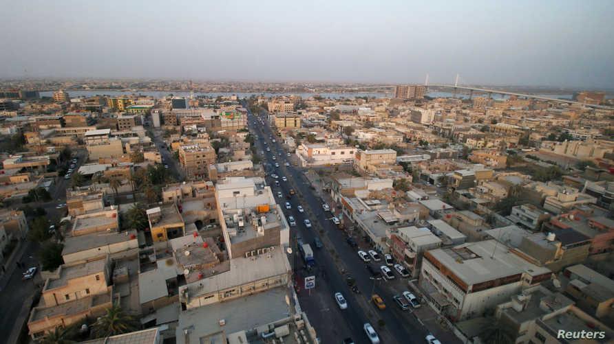 منظر عام من مدينة البصرة بعد أسبوع من الاحتجاجات