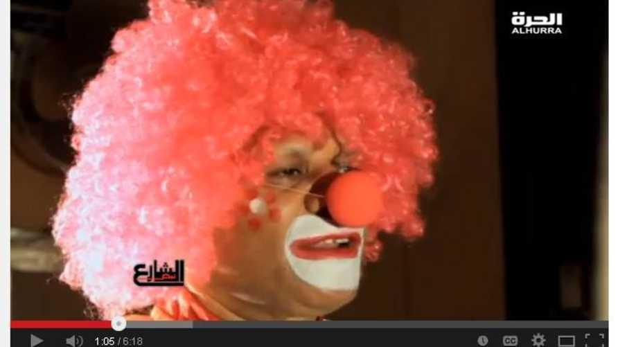 المهرج في السيرك القومي المصري رفعت عبد الفتاح