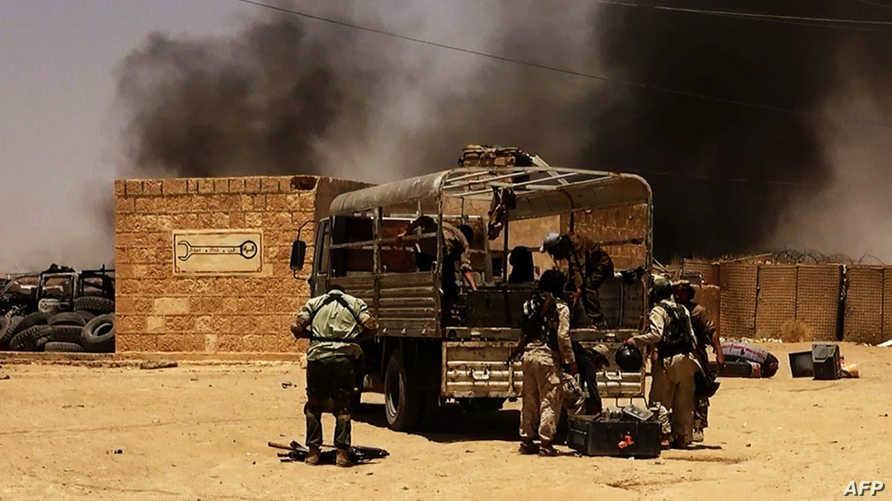 عناصر من داعش قرب الحسكة -أرشيف