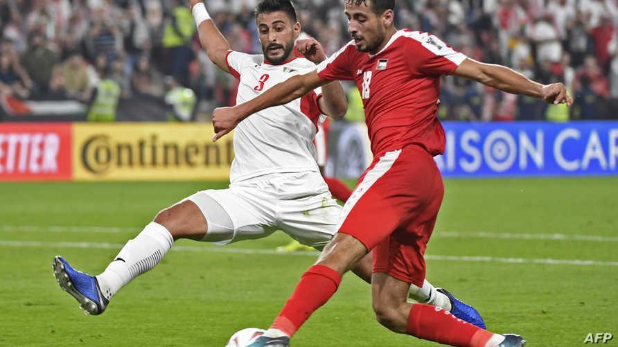 خلال مبارات الأردن وفلسطين في كأس آسيا