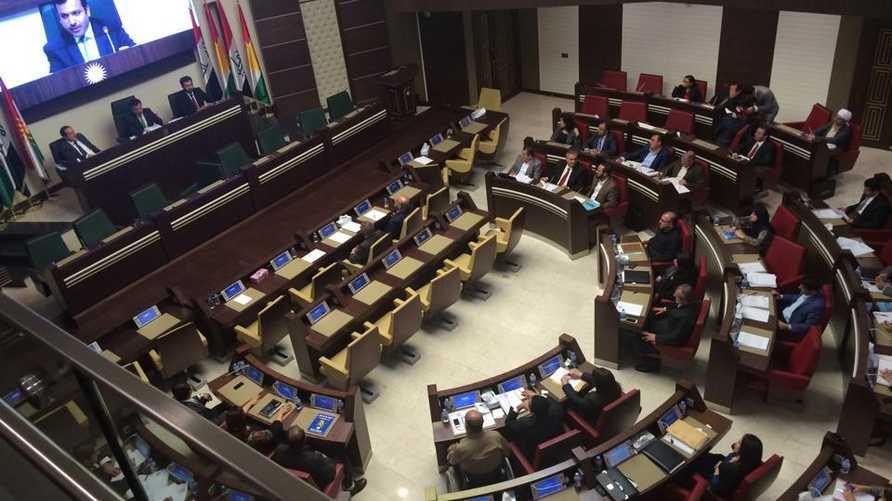 أعضاء برلمان كردستان في جلسة مغلقة - أرشيف