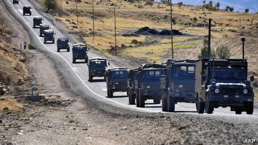 قوات تركية على الحدود مع العراق