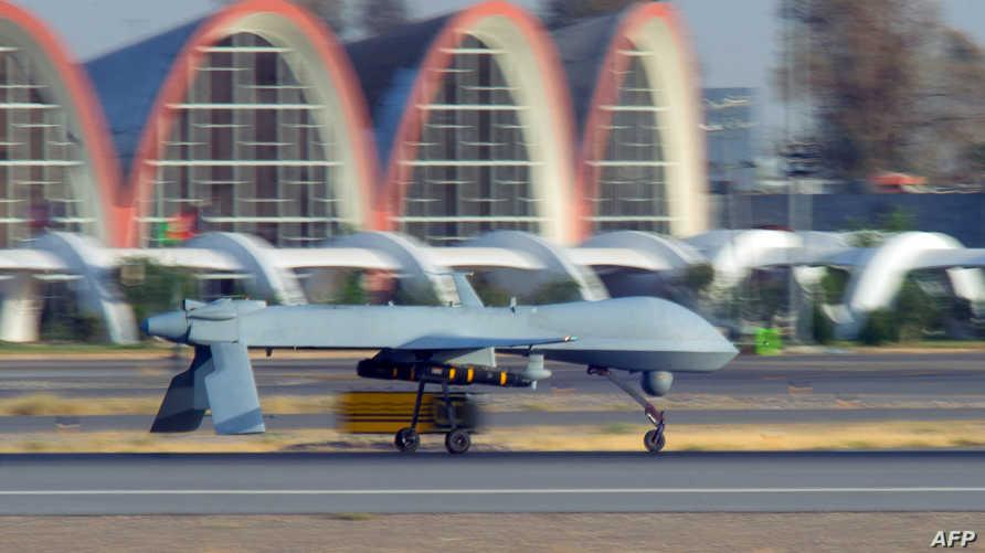 طائرة عسكرية مسيرة