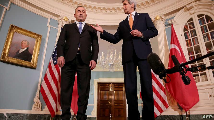 وزير الخارجية الأميركي ونظيره التركي في واشنطن