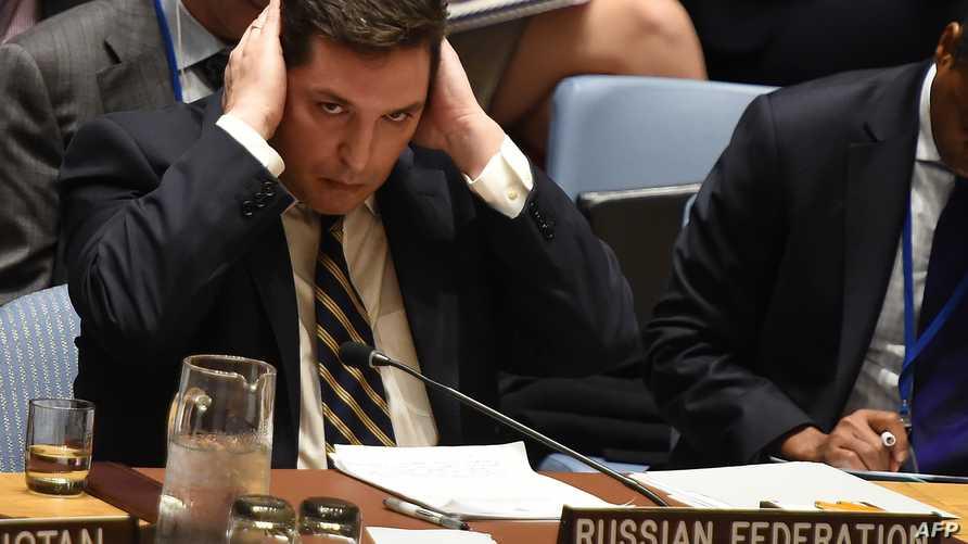 القائم بأعمال السفير الروسي في الأمم المتحدة فلاديمير سافرونكوف