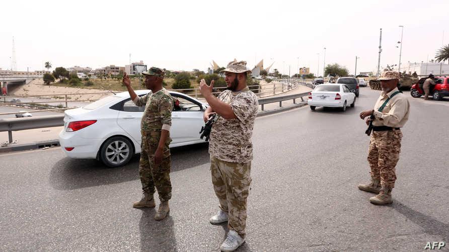 عناصر في القوات الليبية التابعة لحكومة فايز السراج_أرشيف