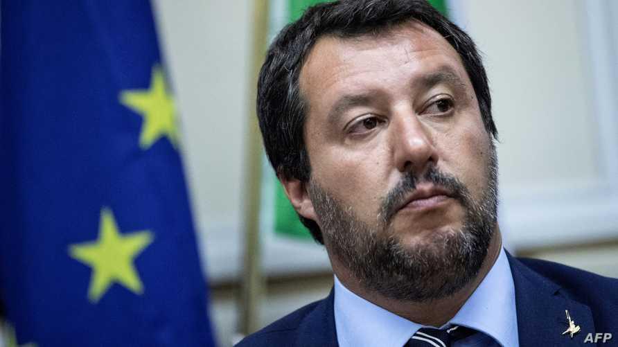 وزير الداخلية سابقا، ماتيو سالفيني