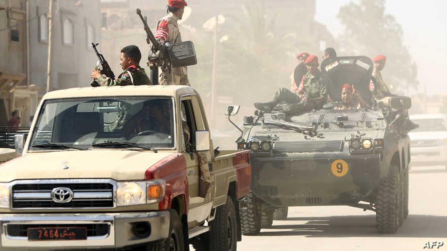 دوريات أمنية في ليبيا