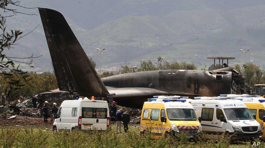 حطام الطائرة الجزائرية
