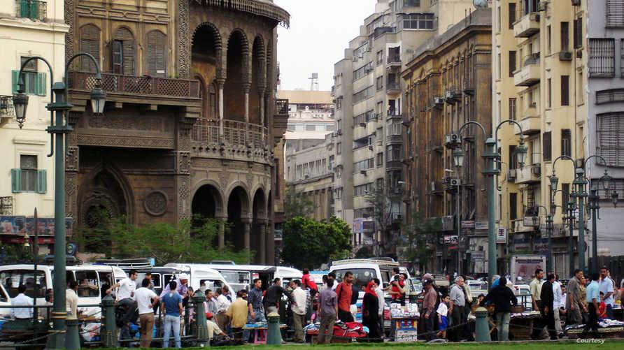 شارع جانبي بالعاصمة المصرية القاهرة