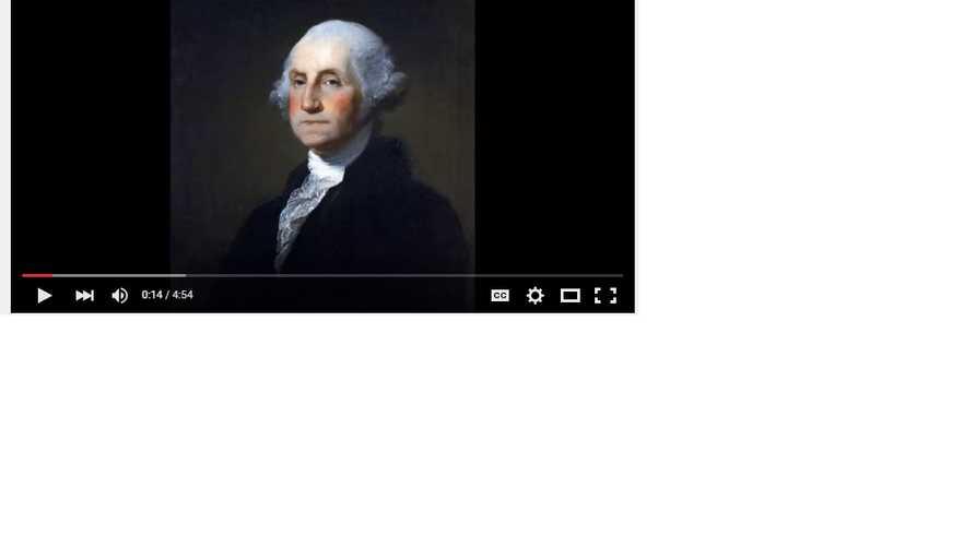 الرئيس جورج واشنطن