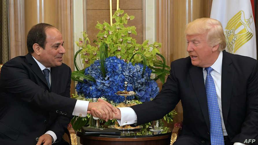 ترامب والسيسي في البيت الأبيض-أرشيف