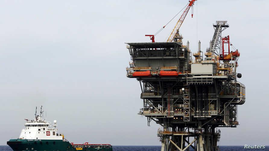 منصة إنتاج غاز إسرائيلية في البحر المتوسط-أرشيف