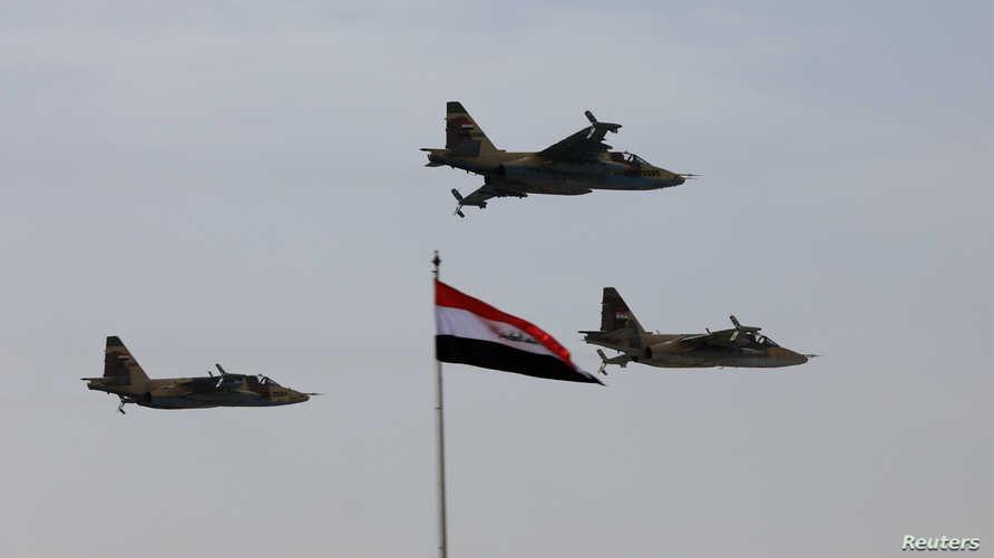 طائرات عراقية خلال احتفالات عيد الجيش في العام 2018