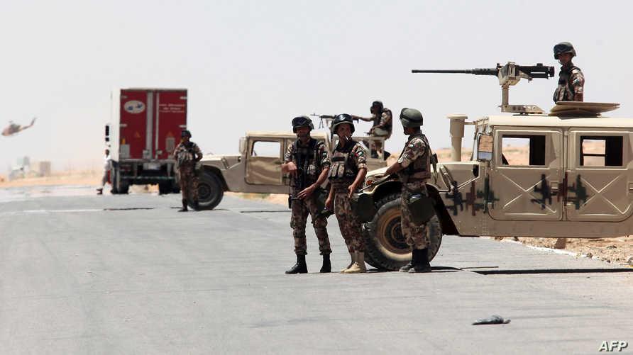 عناصر في حرس الحدود الأردني - أرشيف