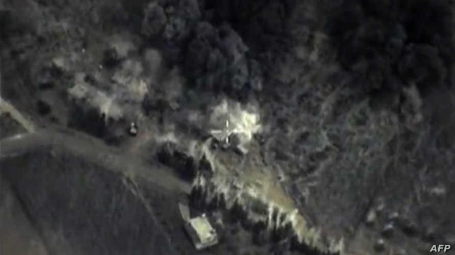 صورة من فيديو لوزارة الدفاع الروسية يظهر تدمير هدف في سورية