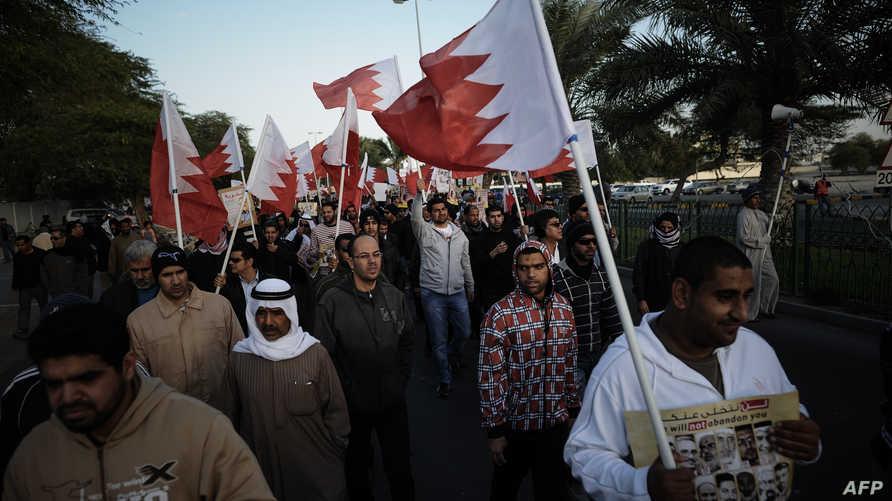 معارضون شيعة في البحرين خلال احتجاجات سابقة، أرشيف