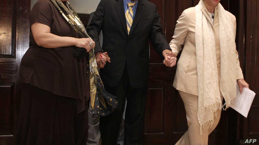 محمد علي كلاي خلال حضوره مؤتمرا صحافيا في وشنطن عام 2011