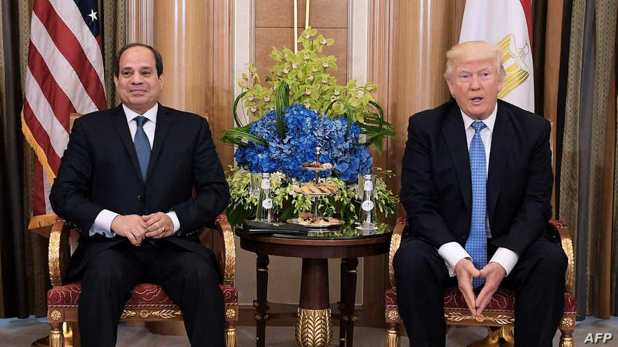لقاء سابق بين ترامب والسيسي