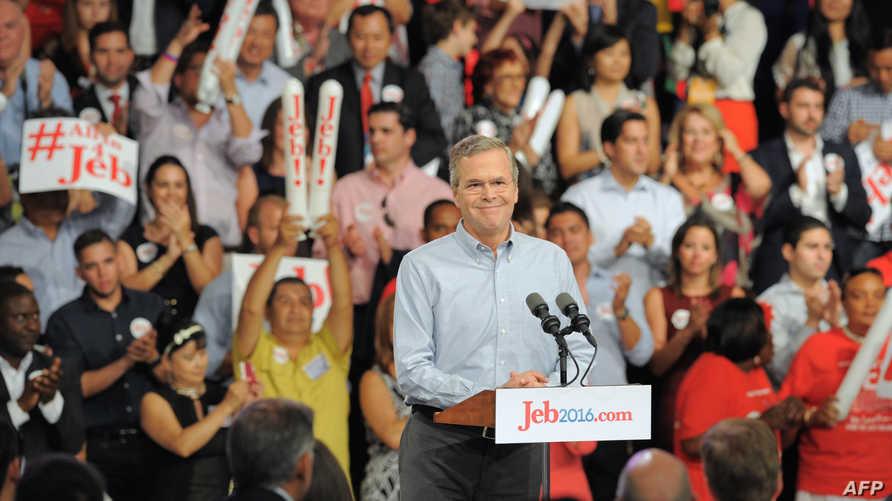 جيب بوش أمام مؤيديه في فلوريدا