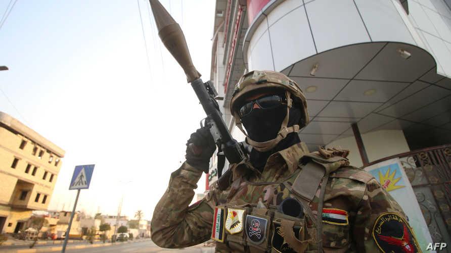 أحد أفراد القوات العراقية الخاصة -البصرة