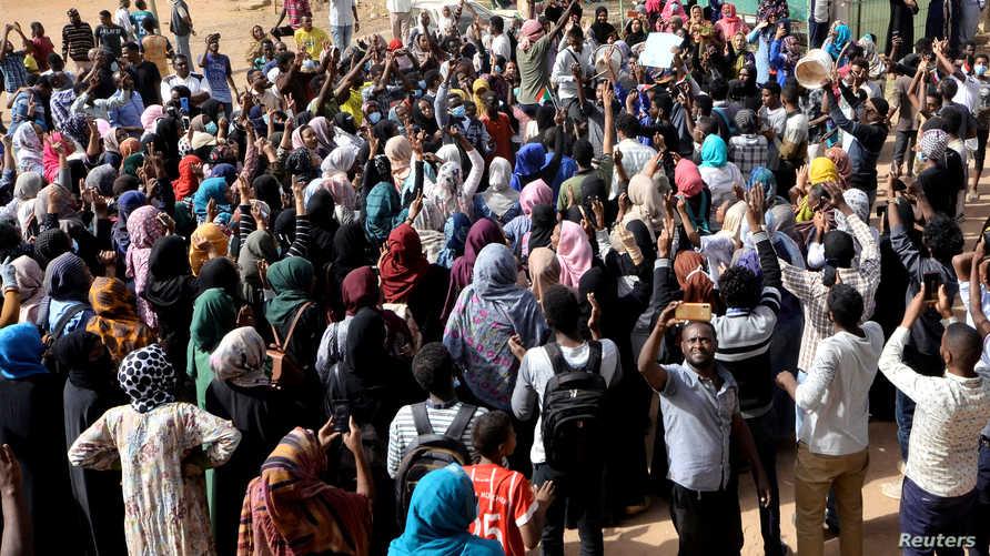 جانب من مظاهرة في الخرطوم