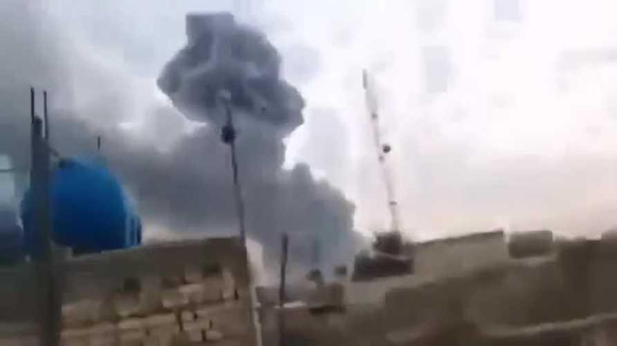 انفجارات هائلة تهز قاعدة صقر جنوبي بغداد