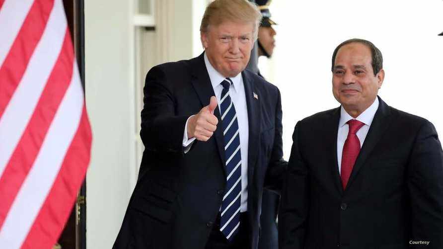 ترامب والسيسي - عن صفحة المتحدث الرسمي لرئاسة الجمهورية المصرية على فيسبوك
