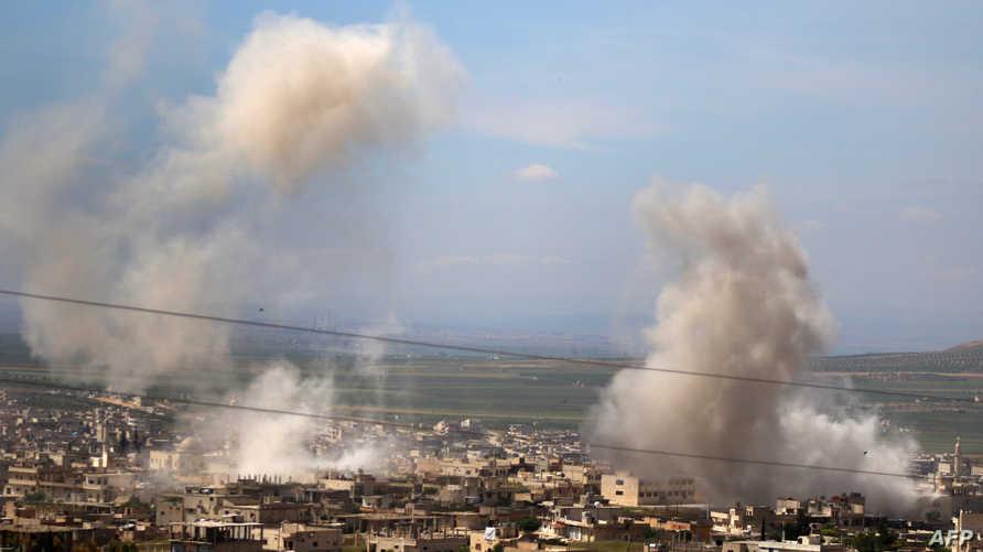 قصف قوات النظام السوري على إدلب