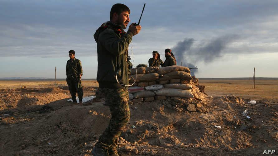 """عناصر من """" قوات سوريا الديقراطية"""""""